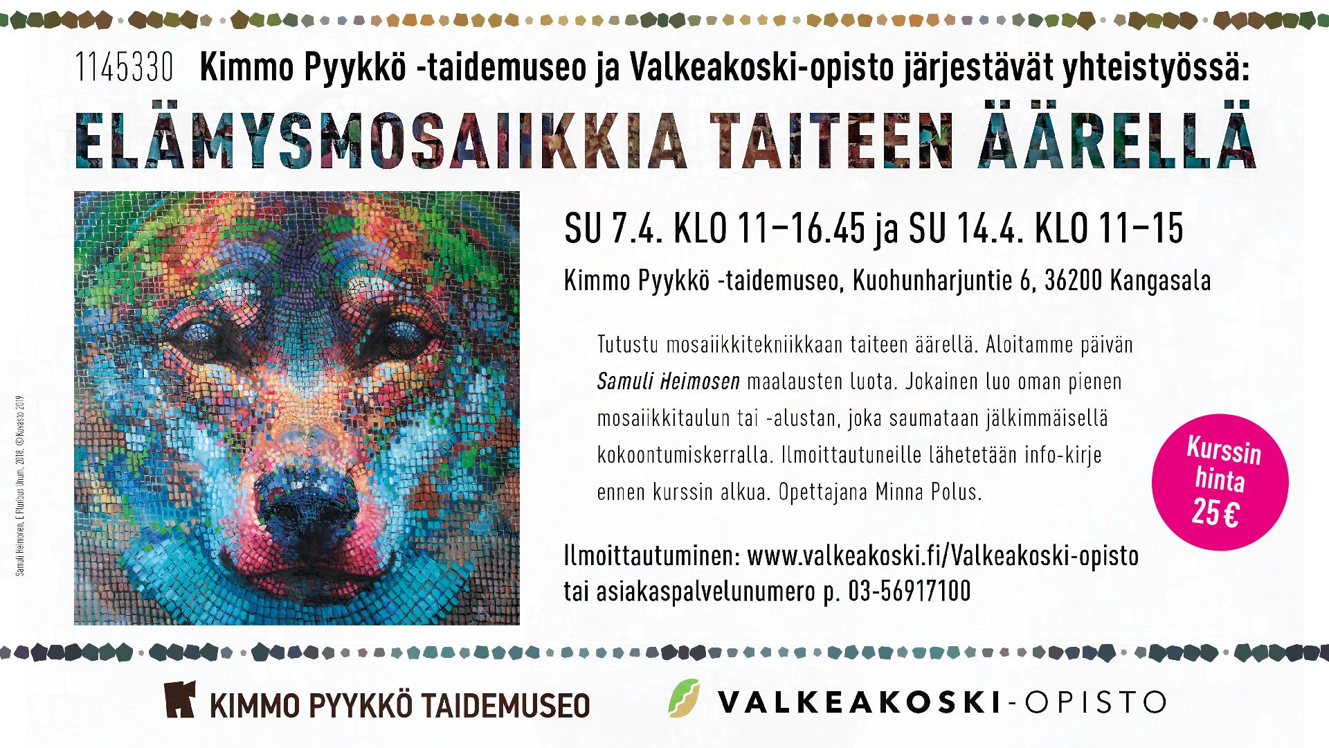 Mosaiikkikurssi Kimmo Pyykkö -taidemuseossa