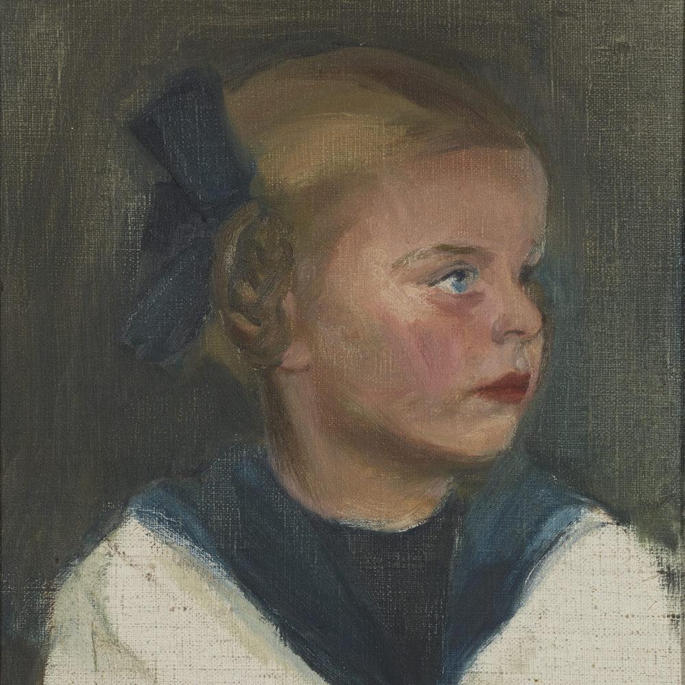 Muotokuvamaalausta Kimmo Pyykkö -taidemuseossa osana lasten löytöretkiviikkoa.
