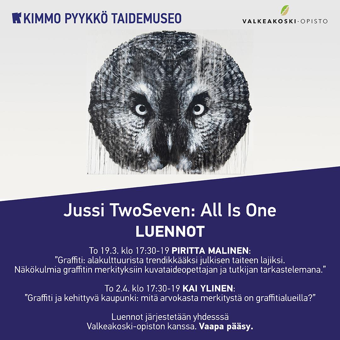 Graffititaiteeseen liittyviä luentoja maalis-huhtikuussa Kimmo Pyykkö -taidemuseossa