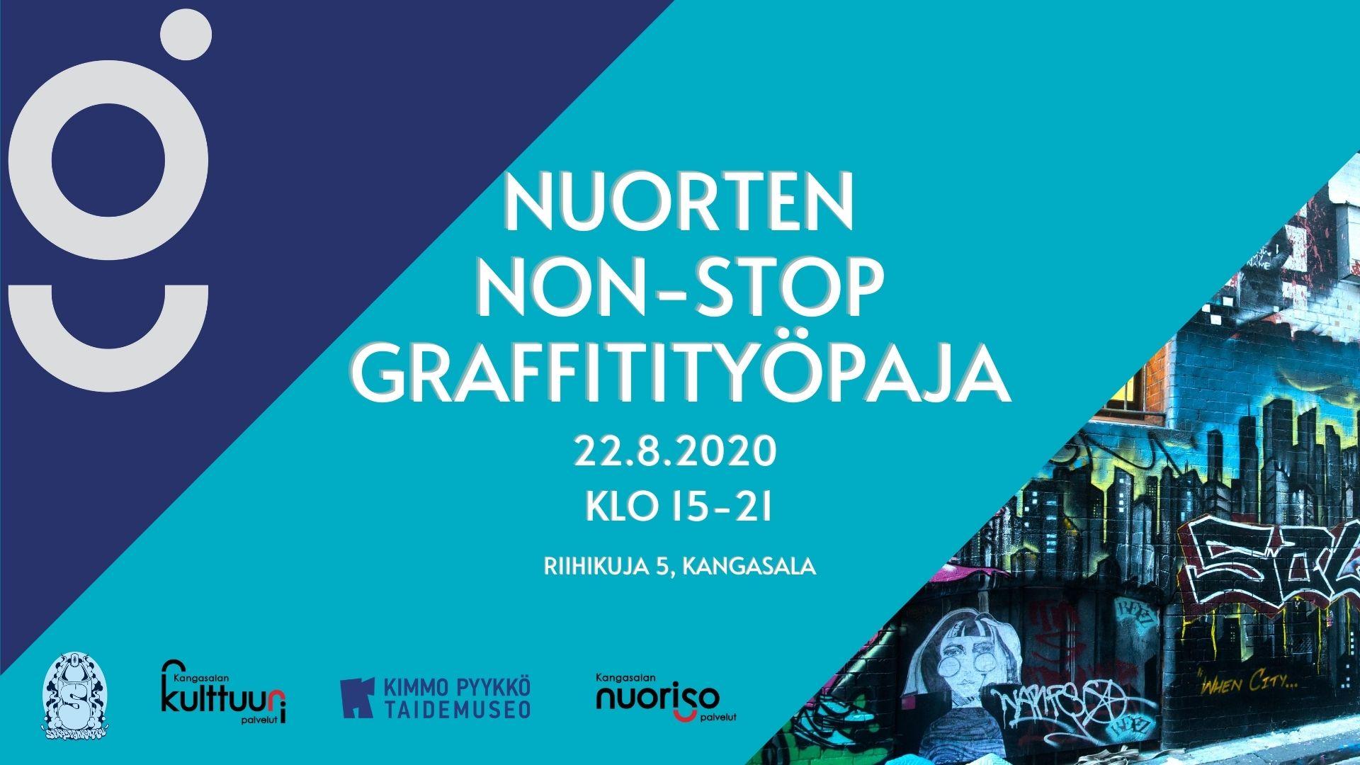 Nuorten non-stop graffitityöpaja 22.8.2020.